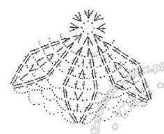 Znalezione obrazy dla zapytania schematy na bombki szydełkowe