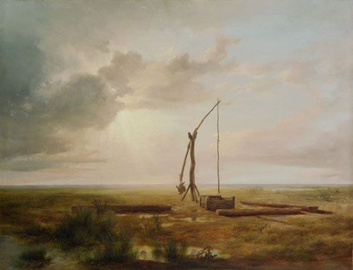 Markó, Károly Scene from the Great Hungarian Plain, with a Sweep-Well 1853