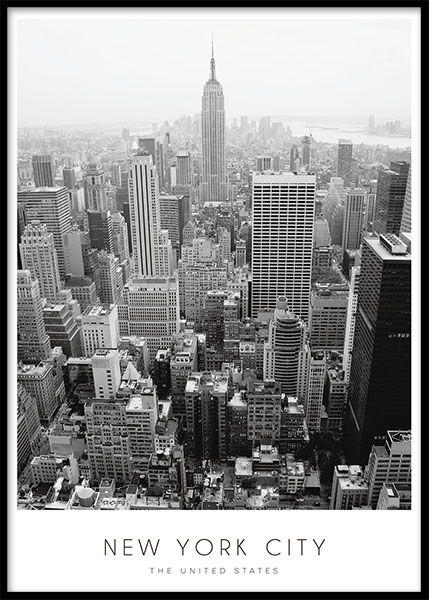 Plakat med New York | Plakater med foto af byer | Posters