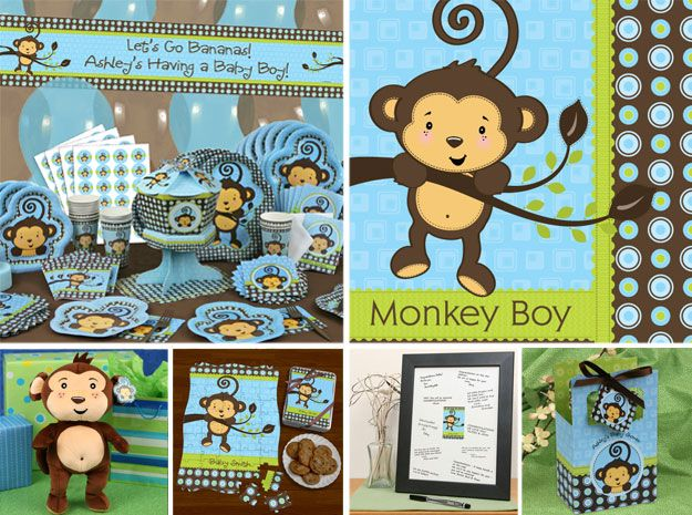 ideas birthday parties boy baby shower themes monkey baby showers