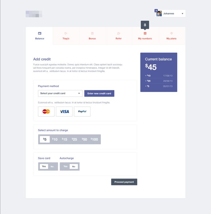 Payment Dashboard User Interface