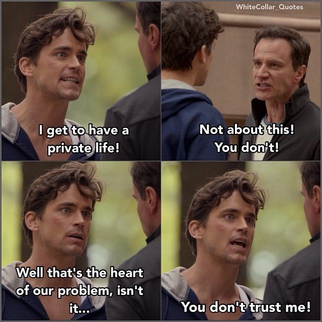 Love this!! Neal and Peter. White collar quotes.