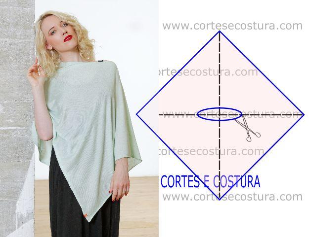 Com origem no continente Sul Americano o poncho feminino ganhou importância há alguns anos, de tal modo que hoje é uma vestimenta global.