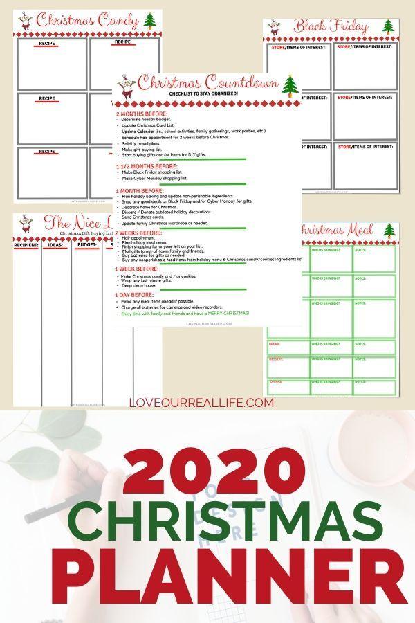 Organized Christmas Countdown 2020 FREE Printable Christmas Planner // Get Organized this Holiday