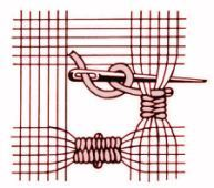 """Called """"points"""" embroidery- a 'how to' guide to using even weave fabric for embroidery resembling cut-work but w French origin.  Nice website.  Lots of clearly illustrated embroidery stitches."""