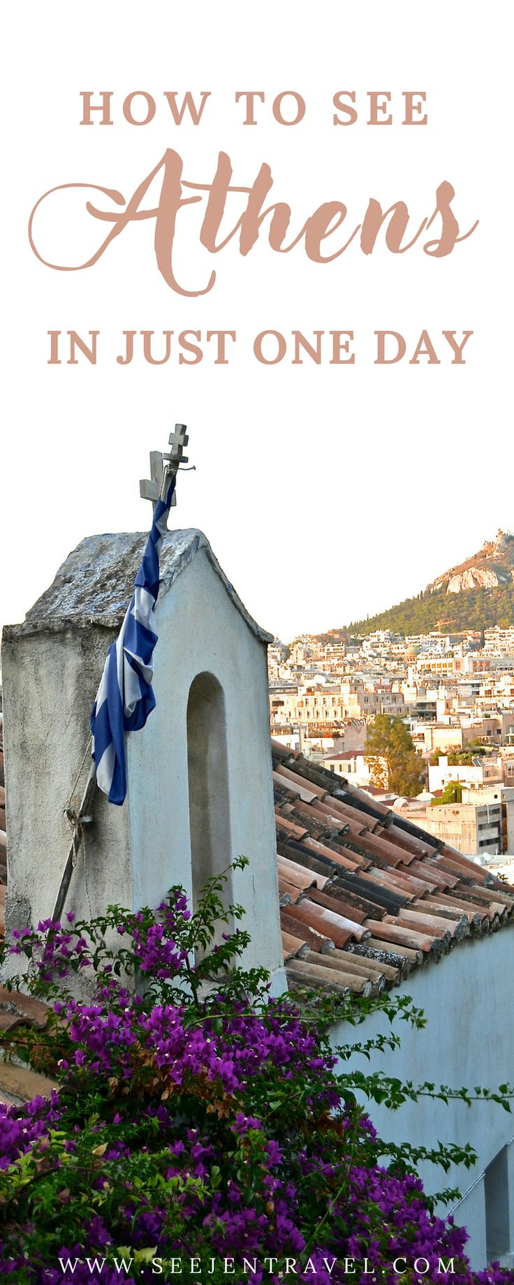 A guide to exploring Athens, Greece in just one day. How to organize your day so that you are able to see the best of the city in 24 hours, from ruins to beautiful views to street art, restaurants and more. Practical tips for your trip to Greece. | Up and Away Travel Blog #Athens #Greece