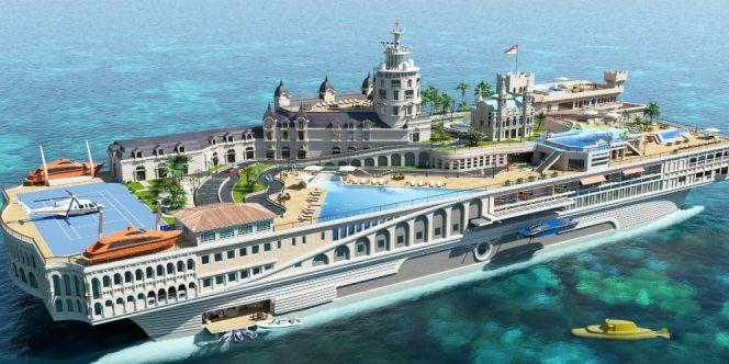 Kapal Pesiar Mewah Ini Bak Istana Monako di Atas Laut