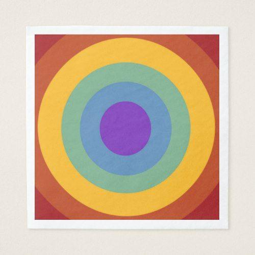 Happy Birthday Circle Rainbow Napkins