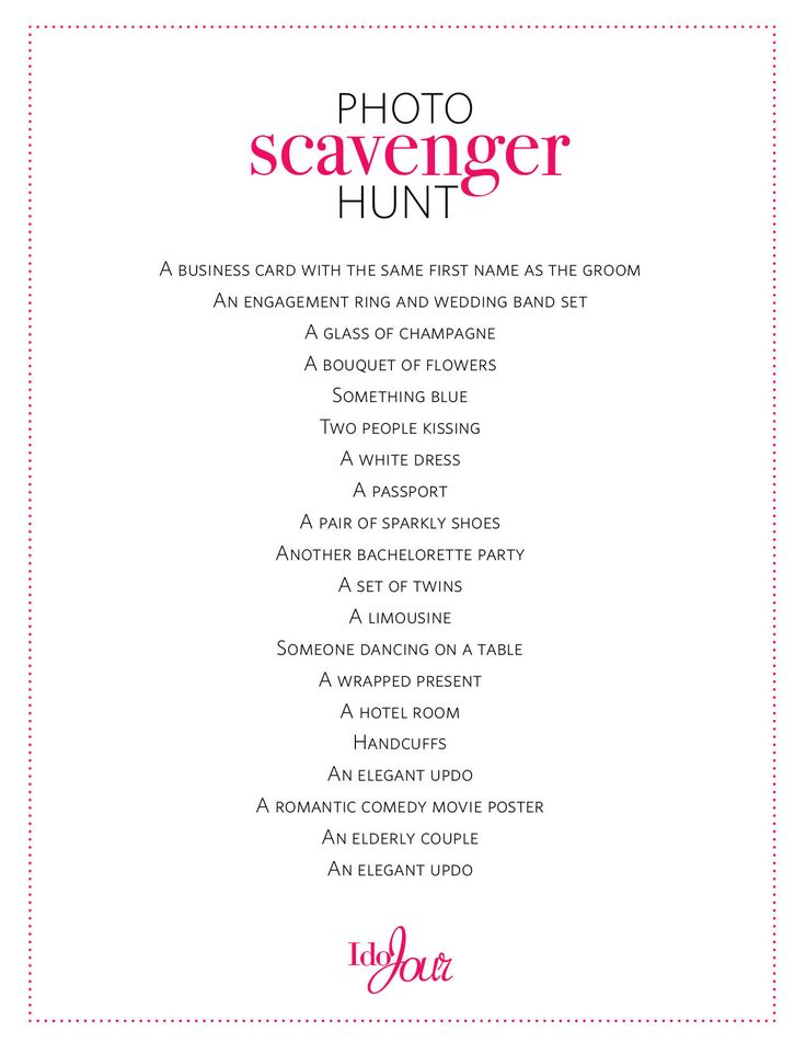 Wedding Photo Scavenger Hunt List Ideas Top 25 Best Hunts On Pinterest