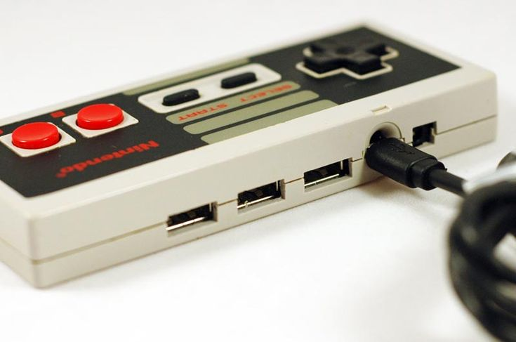 Tony made a usb hub a lot like this out of an old controller!