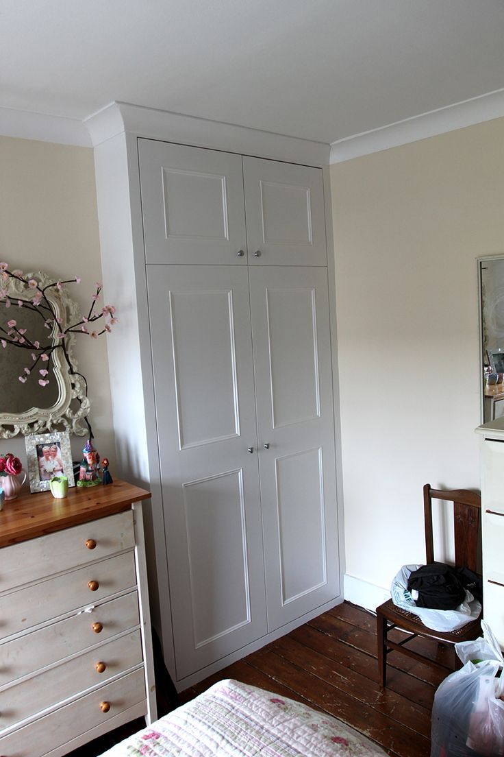 Alcove wardrobe with coving