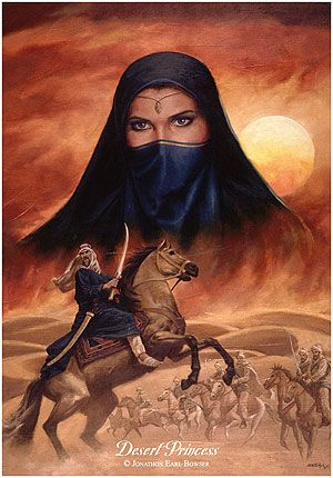Сфера увлечений. Набор для вышивания `Принцесса пустыни` (Джонатан Эрл Баузер). Desert Princess. Bowser, Jonathon Earl. (Набор)