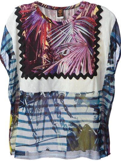 Jean Paul Gaultier Soleil Abstract Print T-Shirt
