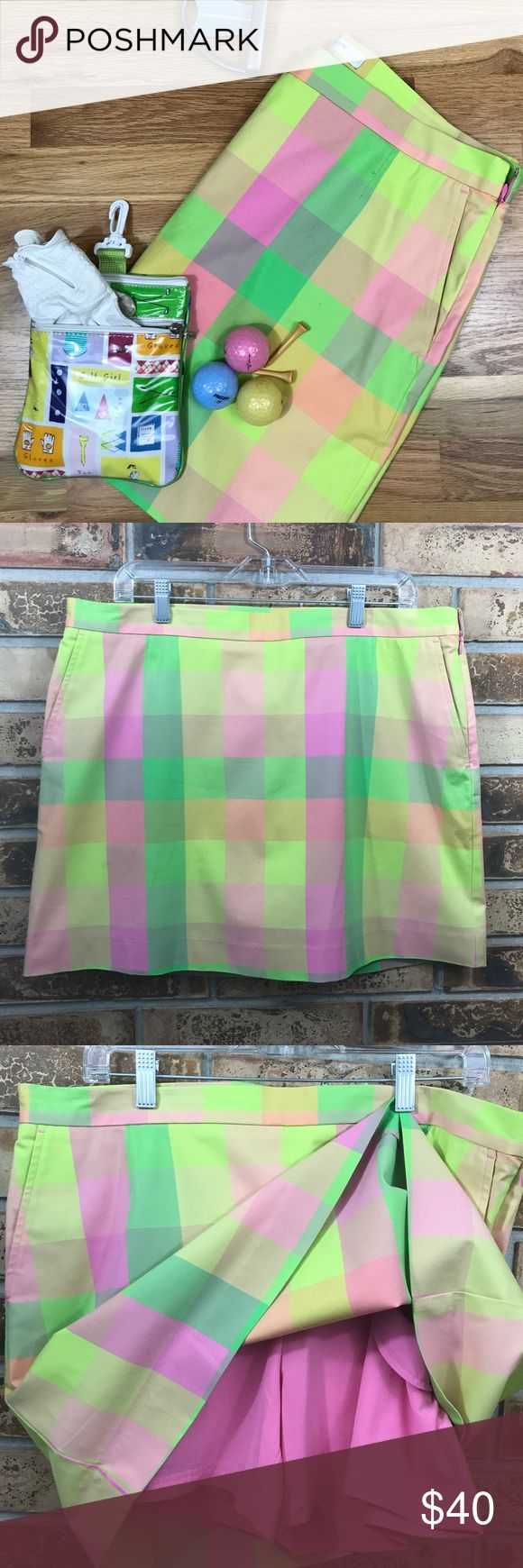 NWOT LizGolf Skort Pretty pastel golf skirt with built in shorts.  Never worn. Perfect condition. See photo of front pockets and one back pocket. Also see photos for measurements. This listing is for the golf skirt only. See other listings for other golf wear that match the skirt and look like a million at the country club! ⛳️ Liz Claiborne Skirts