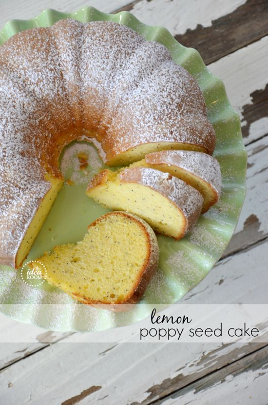 Lemon Poppy Seed Bundt Cake Recipe (or make muffins/bread) | theidearoom.net