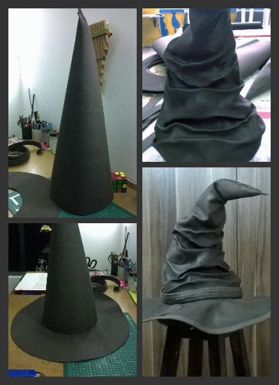 Harry Potter foam sorting hat. Sombrero seleccionador de foamy.