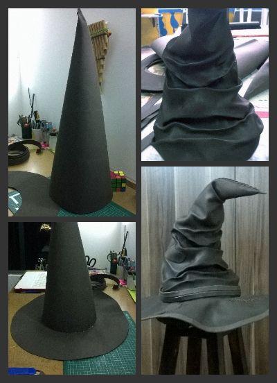 Harry Potter foam sorting hat.                  Sombrero seleccionador de foamy.                                                                                                                                                                                 Más