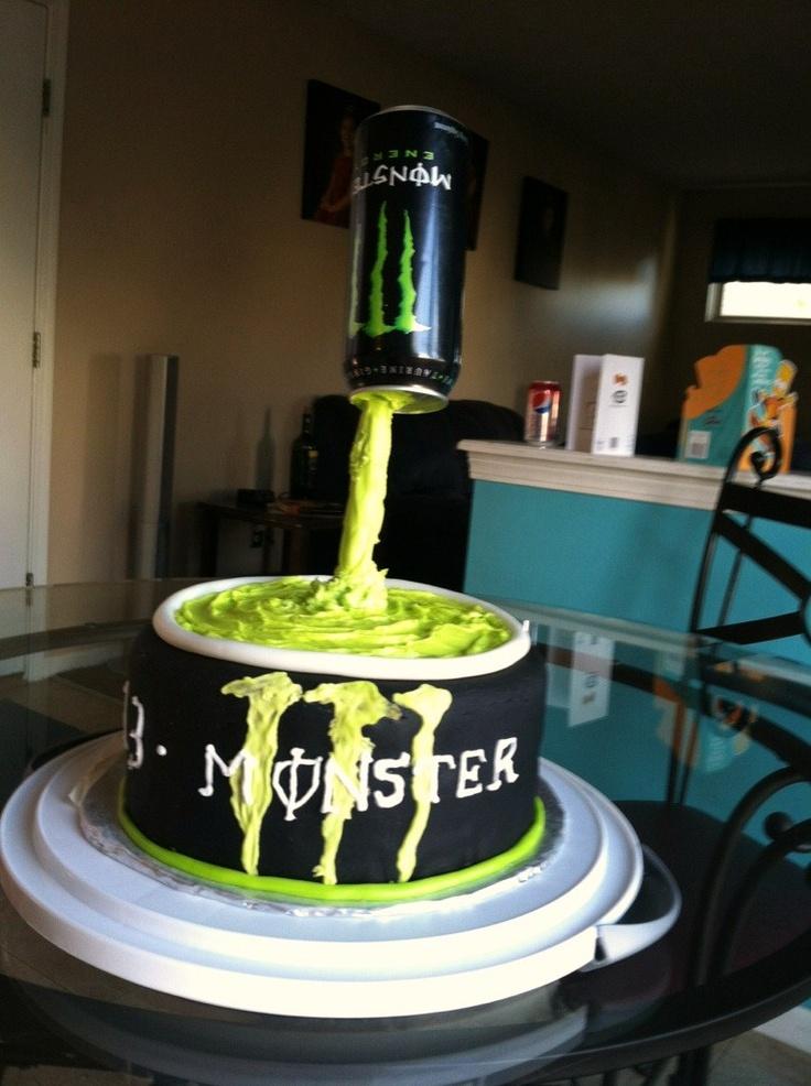 Monster Birthday Cake For 13 Year Old My Cakes Pinterest