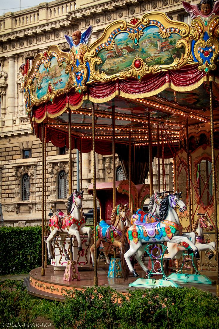 Carousel in St Petersburg, Russia. Photography by Polina Paraka.