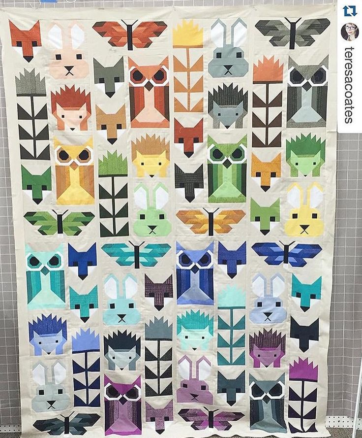 Fancy Forest Quilt by Teresa Coates featuring Me You INDAH Solids