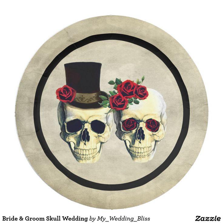 Bride & Groom Skull Wedding