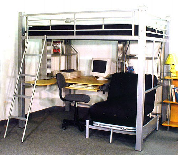 1000 Images About Full Size Loft Bed With Desk On
