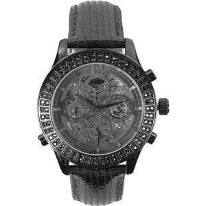 Guess Metallic Leather Watch