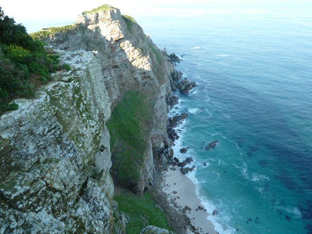 The majestic cliffs are the tip of the Cape Point Nature Reserve. www.toursducap.com