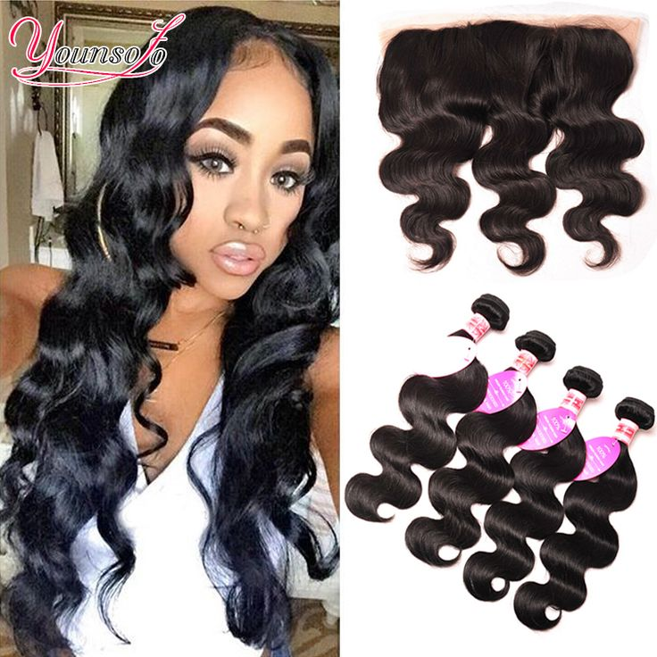 7A Ear To Ear Lace Frontal Closure With Bundles 3 Bundles Malaysian Body Wave With Closure Full Lace Human Hair Weave Bundles >>> Find out more about the great product at the image link.