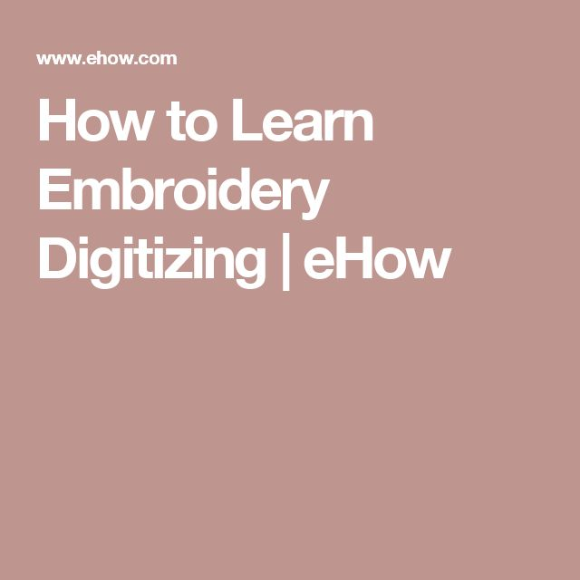 How to Learn Embroidery Digitizing | eHow