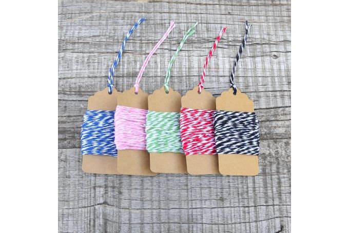 Baker's Twine 50m - 10m per colour: Blue, Pink, Green, Red & Black by Besotted