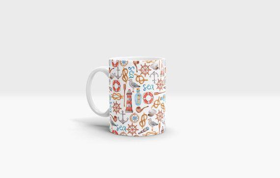 Nautical Mug. 11oz Ceramic Mug. by NJsBoutiqueCo on Etsy