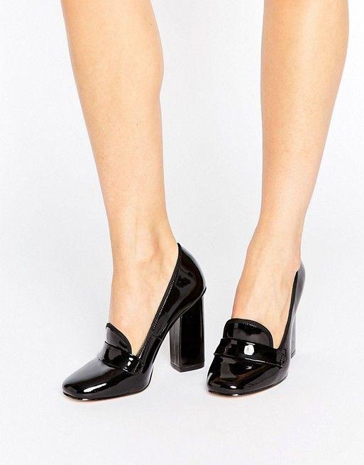 ASOS ALDO Colinda Patent Heeled Loafers