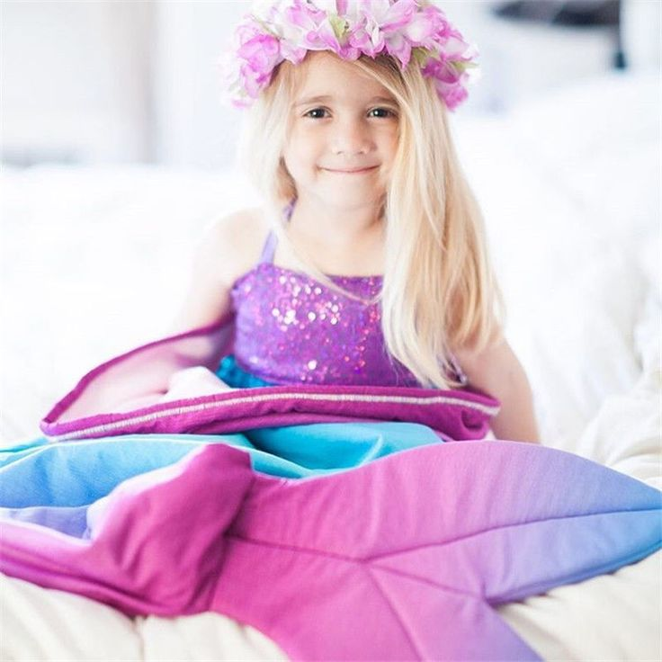 >> Click to Buy << Kids Baby Girls Mermaid Tail Receiving Blanket Sofa Snuggle Soft Sleeping Bag Warm Baby Fancy Rug 0-4T #Affiliate