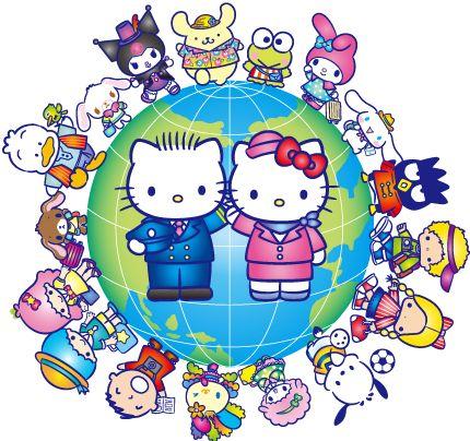 Hello Kitty Happy Flight New chitose Airport Hokkaido JAPAN
