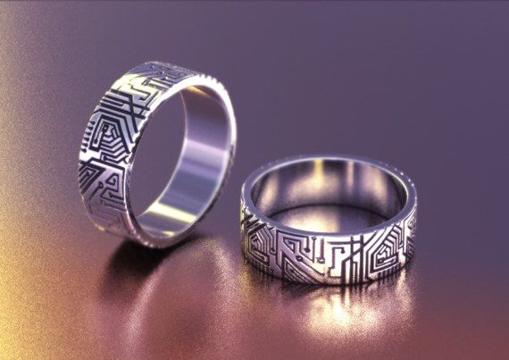 Geek Wedding Gifts: Geek Wedding Ring, Circuit Board Ring, Programmer Gift