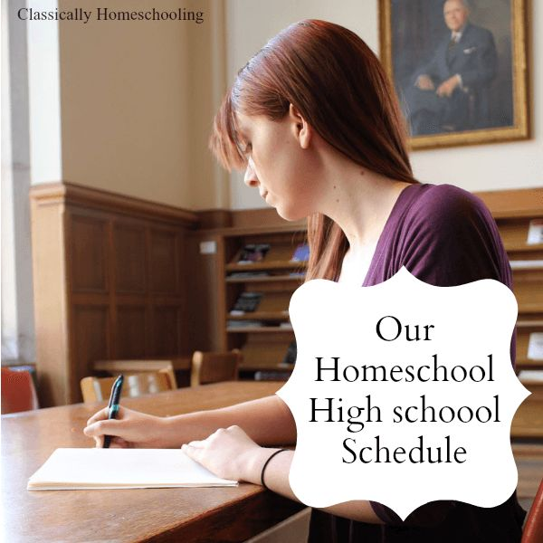 Homeschool High School Schedule to Check Out - Yeah, I'm thinking quite a few years ahead...