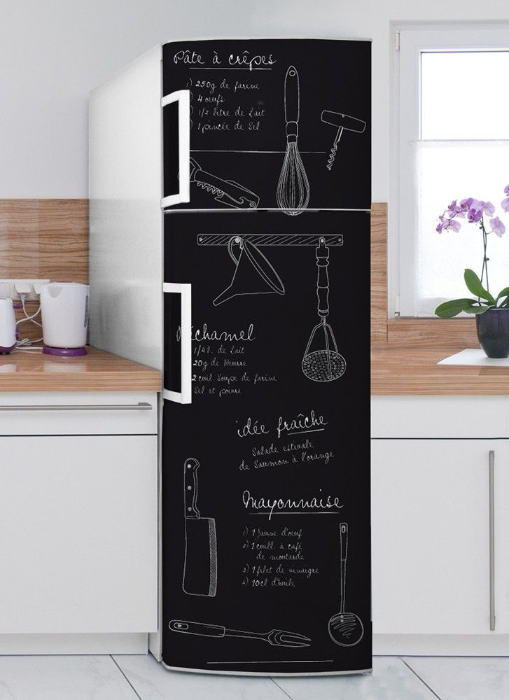 les 25 meilleures id es de la cat gorie sticker frigo sur. Black Bedroom Furniture Sets. Home Design Ideas