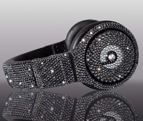 ༻✿༺ ❤️ ༻✿༺ Swarovski Crystal Beats By Dre Bling Black Diamond Headphones | Made with Swarovski Elements Crystal Studio, Solo, and Pro Beats Headphones ($500) ༻✿༺ ❤️ ༻✿༺