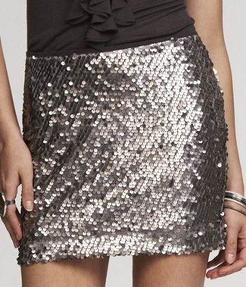 Can you say New Years?  I love sparkles.  Sequin Skirt, $59.90.