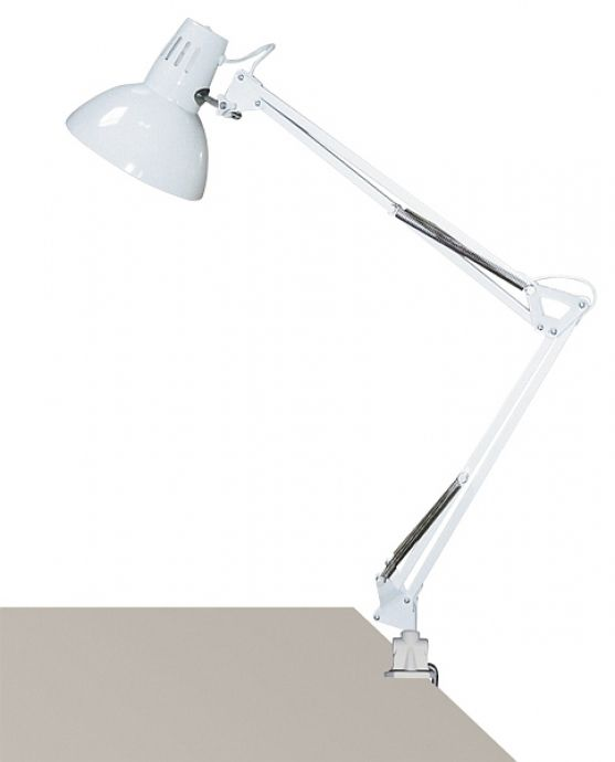 lampa de birou ARNO 4214 alba cu prindere laterala, din doua bucati  marca RabaLux
