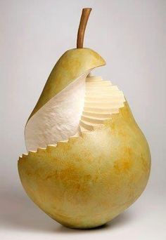 """""""Spiral Staircase""""  Clay Pear Sculpture 