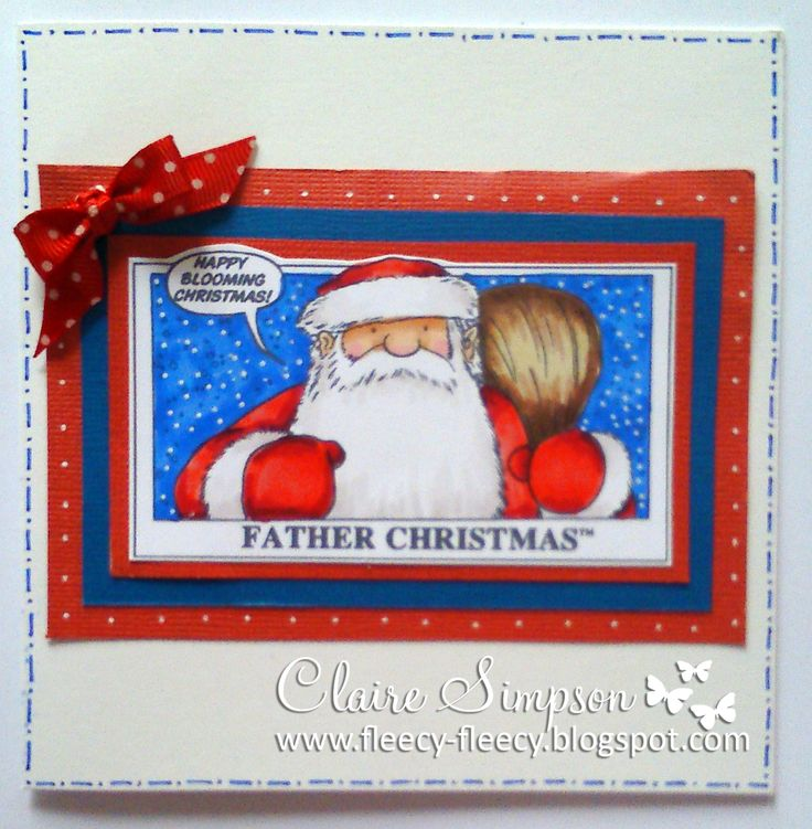Father Christmas Stamp from #crafterscompanion coloured with @SpectrumNoir