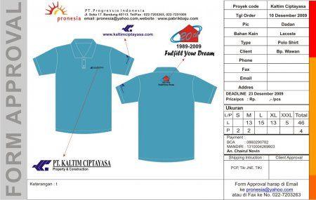 http://www.konveksi-jakarta.com/ Poloshirt PT Kaltim Ciptayasa