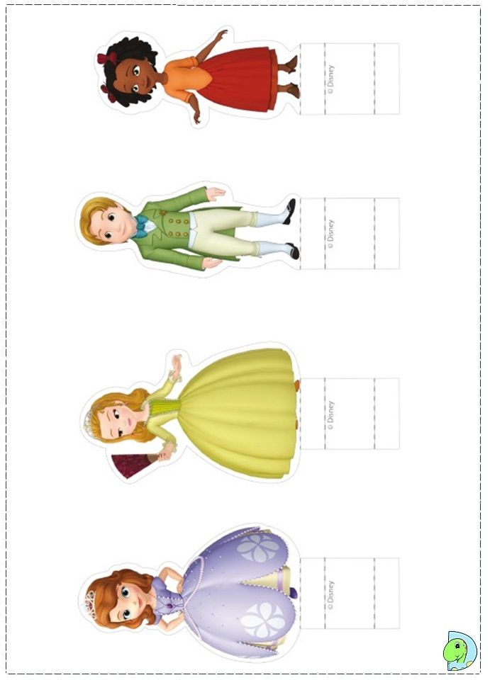 Sofia the First Paper Dolls