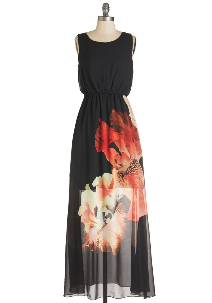 Winery Concert Dress. Acoustic music, smooth red wine, and the transcendent style of this black maxi dress - now, this is an evening worth remembering. #black #modcloth
