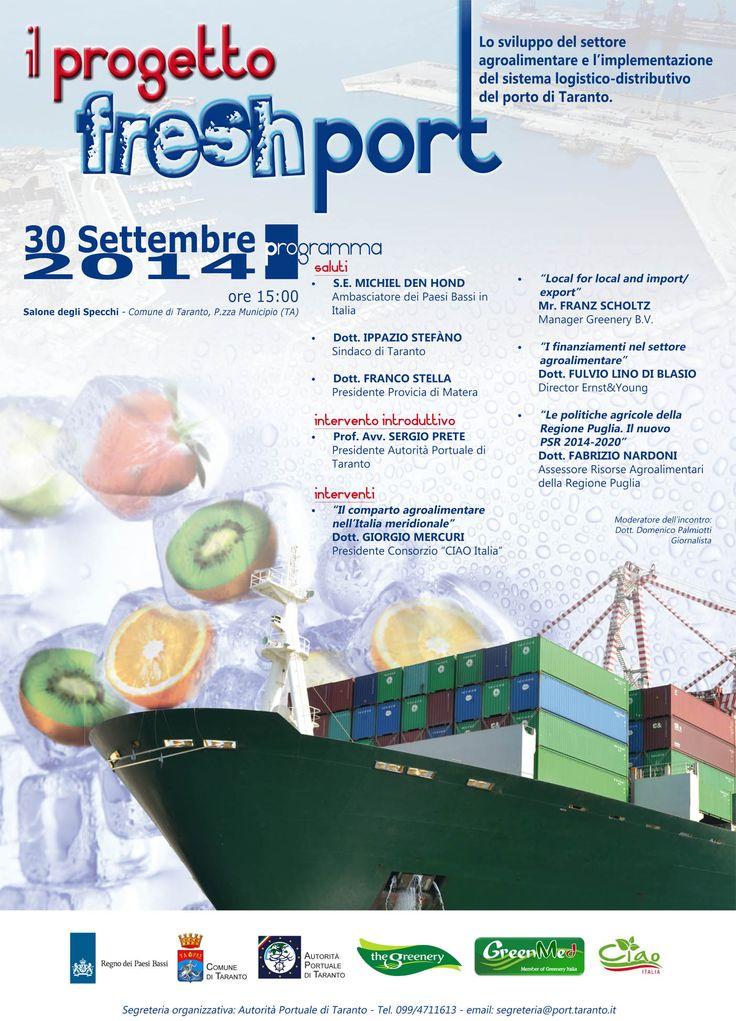 Progetto freshport: un convegno su agroalimentare e implementazione del sistema logistico del porto di Taranto