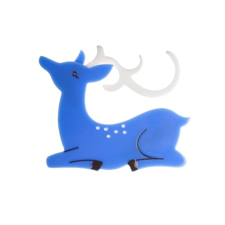 Blue Doe...Deer...Fawn Brooch from Erstwilder Australia