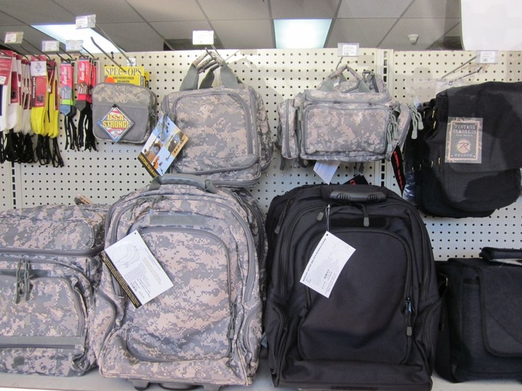 Backpacks and bags at Commando Military Supply.
