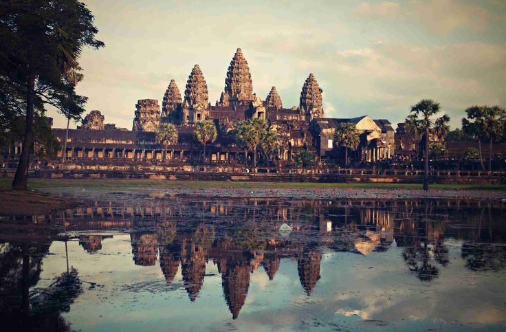 Angkor Vat temple   Cambodia   It is very famous and the largest religious building in the world http://just-read-it.cz/hinduisticke-chramove-mesto-angkor-wat/